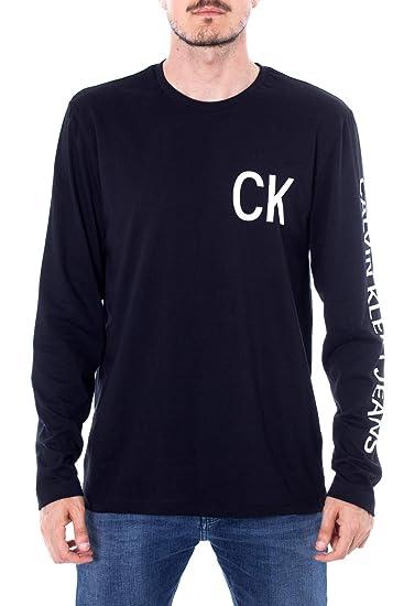Calvin Klein Jeans On The Back Camiseta de Manga Larga: Amazon.es ...