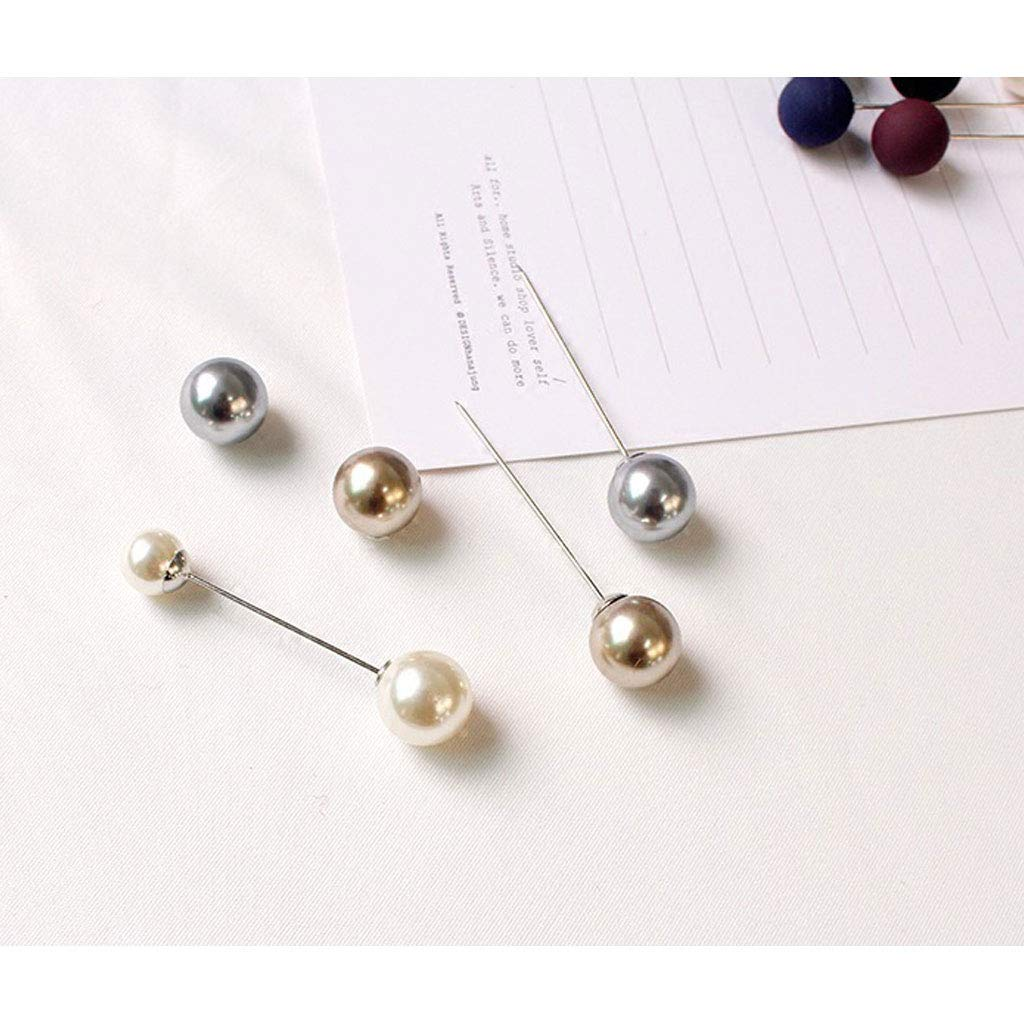 SSwellshopping Brooch Pins for Woman Faux Pearl Sweater Shawl Clip Safety Pins Fashion Jewelry for Women Girls 2 Pieces