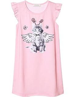 Girls Princess Nightgown Cotton Nightdress Sleepwear Pajamas Dress for Kids f00f32349