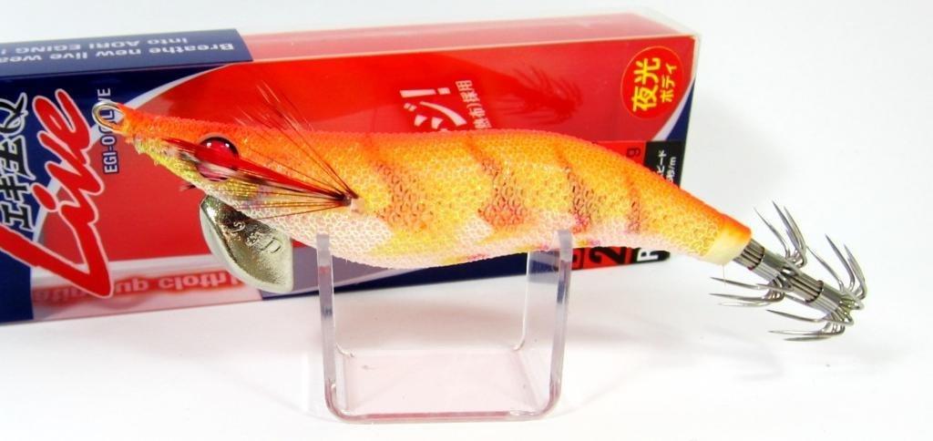 Yamashita Live Egi-O-Q Squid Jig 2.5D - 11 g - 3-3.5 sec per meter R02 (9099) by YAMASHITA