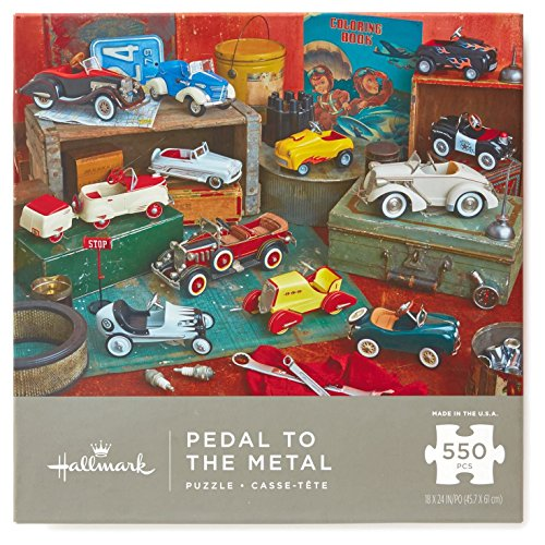 - Hallmark Pedal to the Metal Kiddie Cars 550-Piece Jigsaw Puzzle