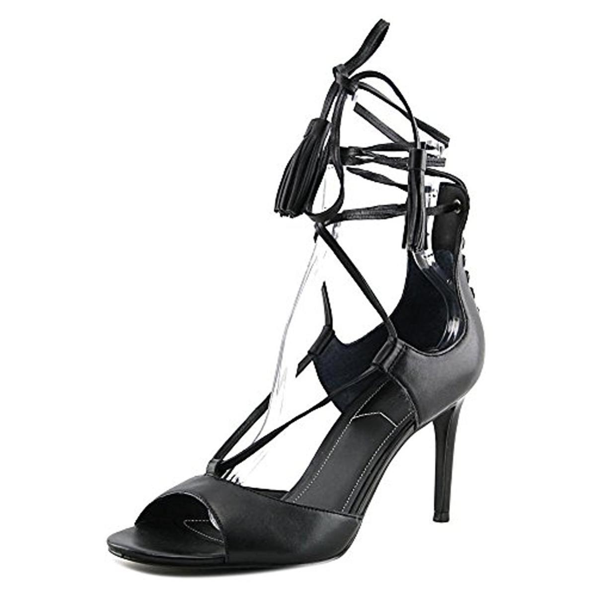 KENDALL + KYLIE Womens Mira Sued Lace-Up Dress Heels Black 8 Medium (B,M)