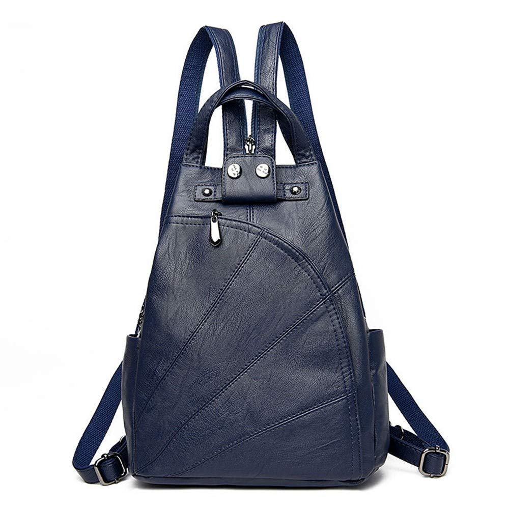 bluee DYR Student Bag Ladies Shoulder Bag Casual Soft leatheravel Bag Shoulder Messenger Bag Outdoor Sports Bag Can Be Wholesale, bluee