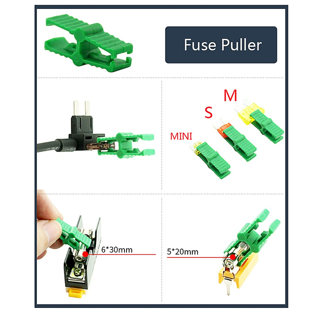 Blade Fuse Assortment M Auto Car Truck Standard Blade Fuse Kit 2 3 5 7.5 10 15 20 25 30 35AMP Cars Boats Trucks SUV/Automotive Fuses w Fuse Puller and AUTO Tester and Storage Case