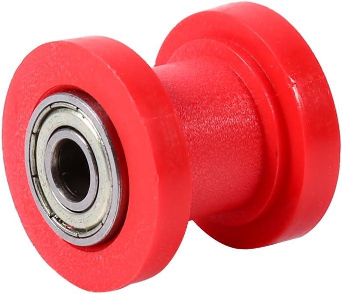 Amarillo KIMISS Tensor deslizante de rodillo de cadena 10 mm Tensor de rodillo de cadena Gu/ía Gu/ía de rueda Pit Dirt Mini Bike Moto Atv