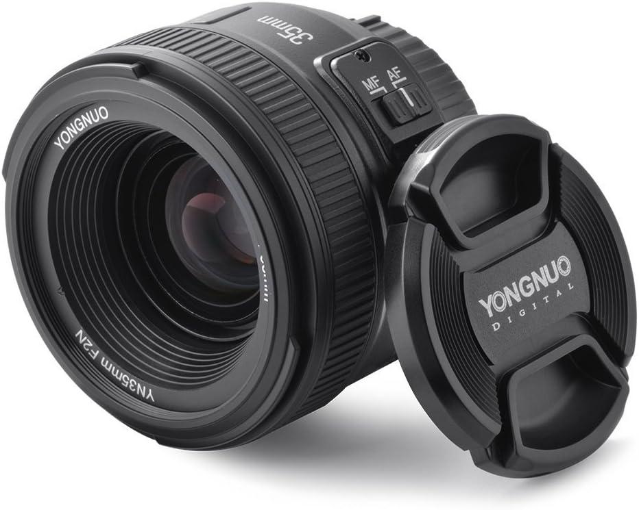 YONGNUO YN35 35mm F2.0 Gran Angular Primer de Lentes Grandes Abertura Manual de Enfoque automático AF MF para Nikon Cámaras DSLR + NAMVO difusor de Flash