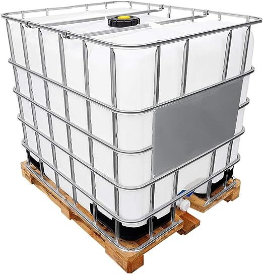 Rekubik 1000l Ibc Water Tank On Wooden Pallet Flushed Amazon Co Uk Garden Outdoors
