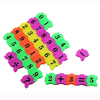callm Educational Toy, Puzzle Toy 36Pcs Baby Child Number Symbol Puzzle Foam Maths Educational Toy Gift : Sports & Outdoors