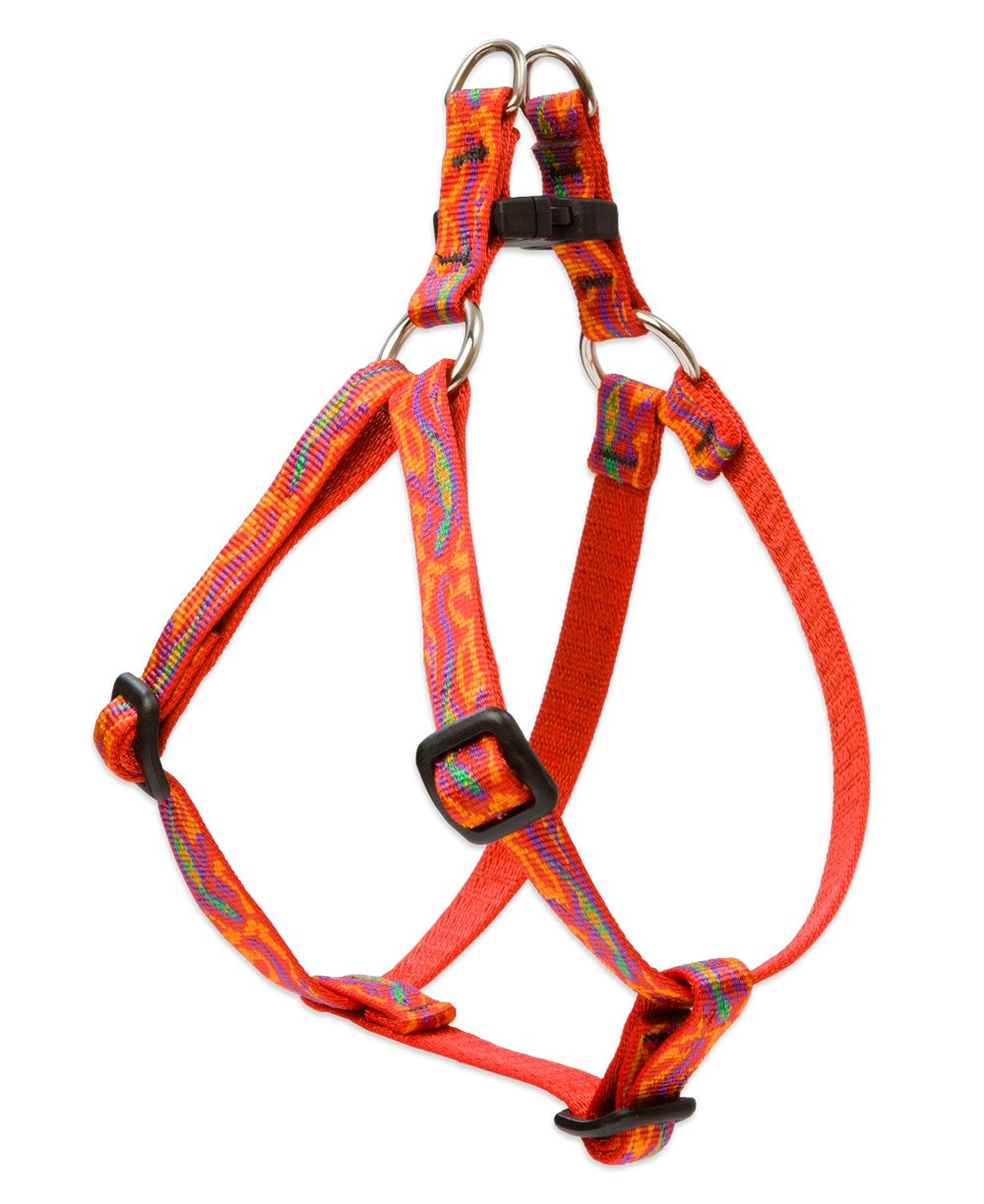 LupinePet Originals 1/2'' Go Go Gecko 12-18'' Step In Harness for Small Dogs