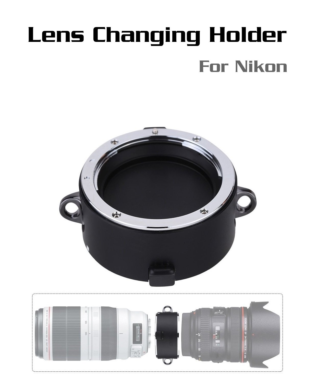 [ For Nikon ] Lens changing stand-by helper Quick changing tool equipment flipper double lens holder DSLR Lens (Nikon)