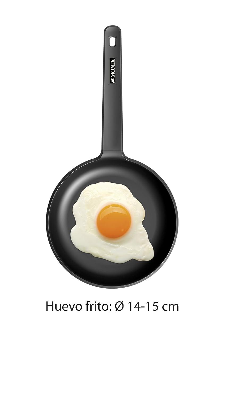 Monix Mandarina - Sartén 20 cm de acero esmaltado naranja con antiadherente Teflon® Classic.: Amazon.es: Hogar
