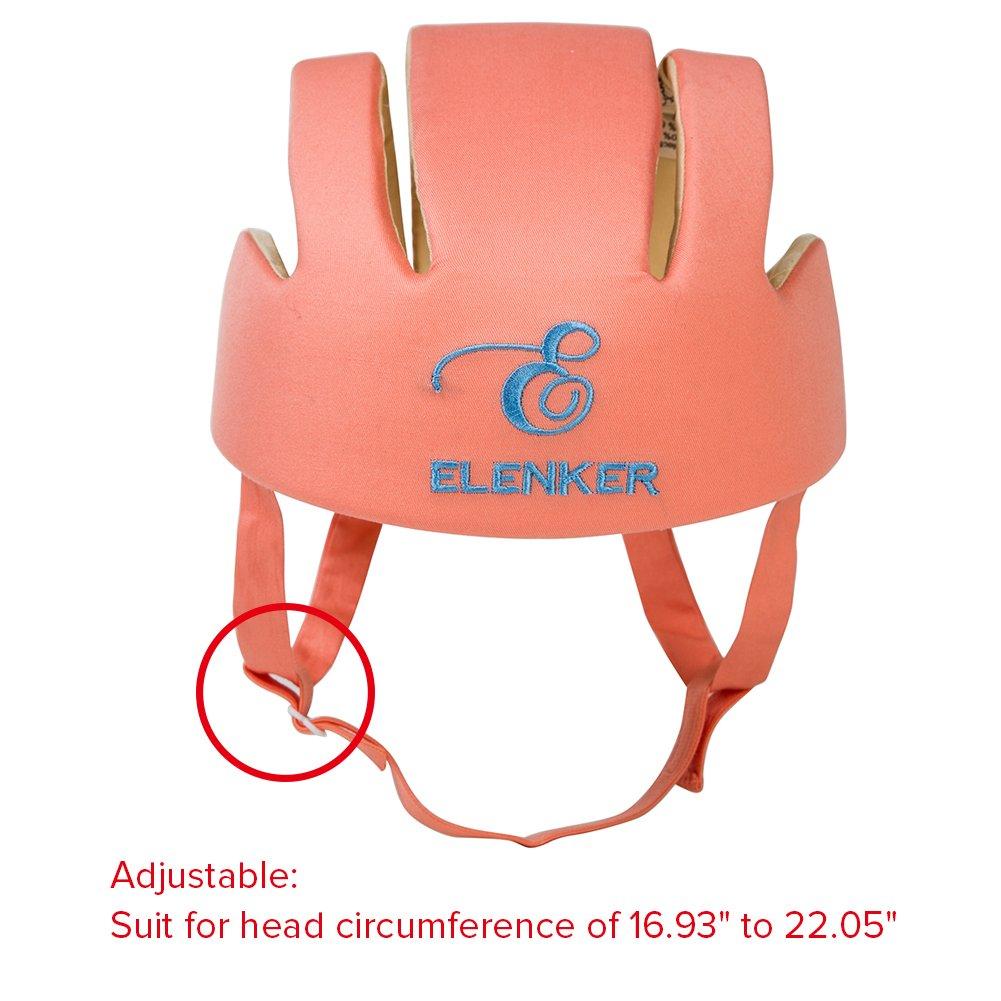 Baby Adjustable Safety Helmet Children Headguard Infant Protective Harnesses Cap Orange