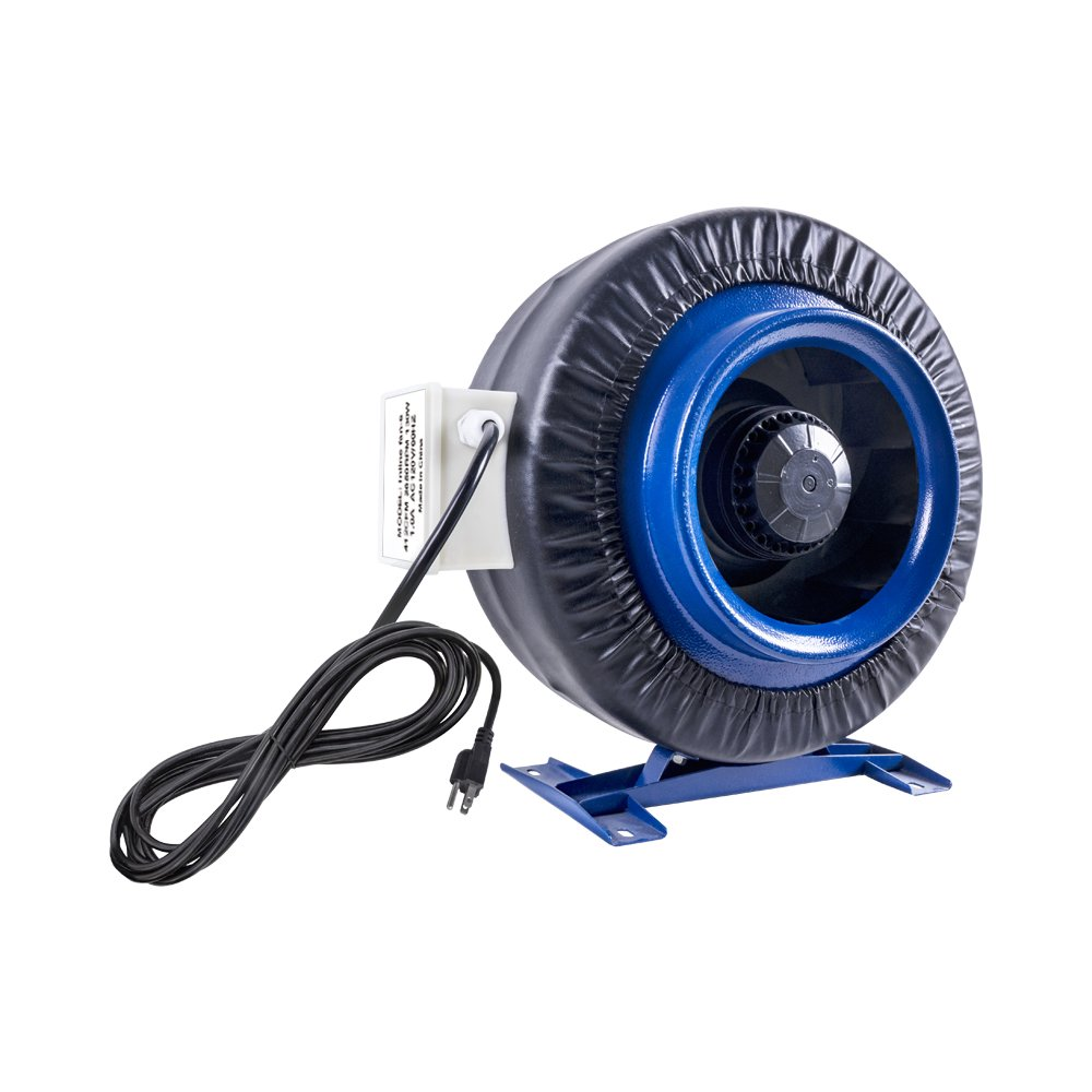 sunGROOM 6'' Inline Duct Centrifugal Hydroponic Exhaust Fan Air Flow 2580RPM 120W Indoor Grow
