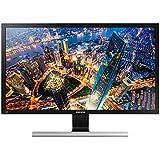 """Samsung U28E570DS 28"""" 4K Ultra HD Noir, Métallique, Argent écran plat de PC - écrans plats de PC (71,1 cm (28""""), 370 cd/m², 3840 x 2160 pixels, 1 ms, LED, 4K Ultra HD)"""