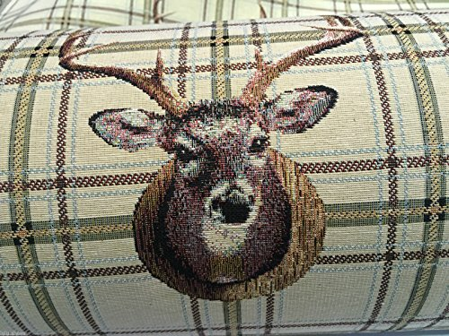 HomeBuy Deer Gobelin Curtain Upholstery Cotton Fabric Material - 140 Cm Wide- Moose Elk