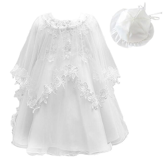 Baby Girl Dress 3PCS Christening Baptism Gowns Formal Dress: Amazon ...