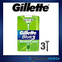 Gillette Tıraş Bıçağı Blue 3 Sense Care 3'lü Paket