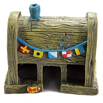 Mayyou Peces Tanque Decoraciones Acuario Decorativo Resina paisajismo Dibujos Animados decoración Peces y camarones esquivando: Amazon.es: Hogar