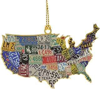 product image for ChemArt USA License Plate Map Ornament