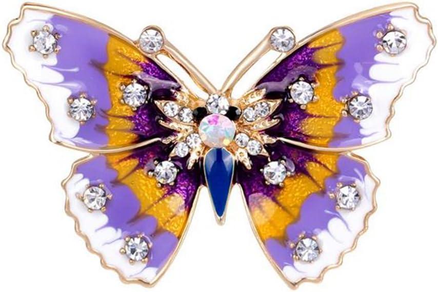 Fablcrew Broche Epingle de Femme en Forme de Papillon Bijoux Mariage Corsage de Pin Brooch de D/écoration pour V/êtements /écharpe