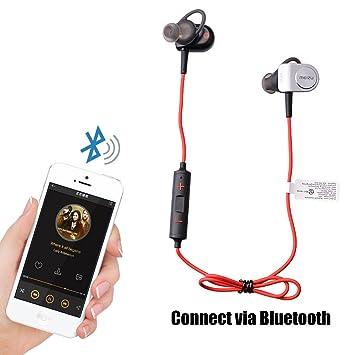 Meizu Bluetooth Auriculares 4.1 Wireless Sport Stereo niveles resistente al agua Auriculares Auriculares con micro Fron In-Ear Wireless Headset con imán ...
