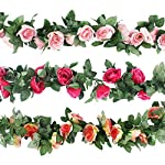 CEWOR-Artificial-Rose-Vine-Fake-Flower-Garland-for-Wedding-Home-Garden-Party-Decoration