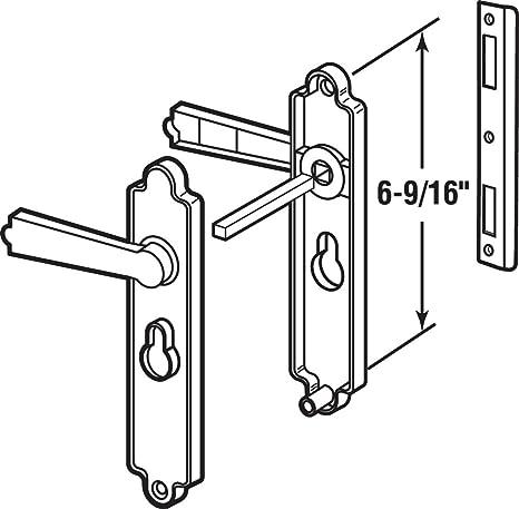 Black Dimpled Prime-Line Products K 5063 Security Door Lever Set