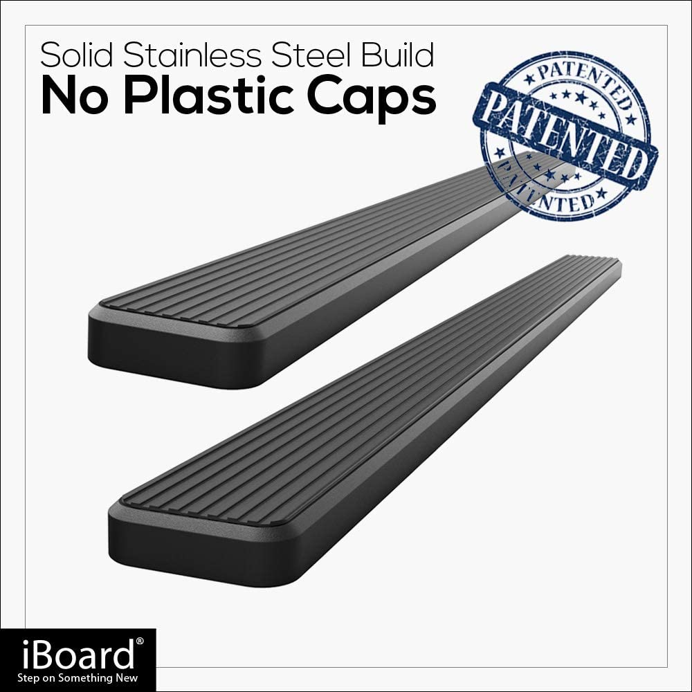 APS iBoard Black 5 inches 304 Stainless Steel Running Boards Nerf Bars Side Steps Step Rails Compatible with 2011-2019 Dodge Grand Caravan /& 2011-2016 Chrysler Town Country