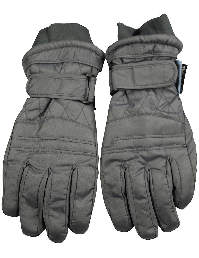 Winter Warm-Up - Big Boys Ski Gloves, Grey 36494-Medium