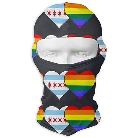 Amazon.com  Neck Scarf Sunscreen Hats Ski Mask Chicago Flag and LGBT ... 3148b3cd1