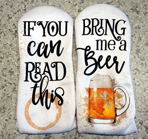 - If You Can Read This Bring Me a Beer! Lounge Socks Full Color Design
