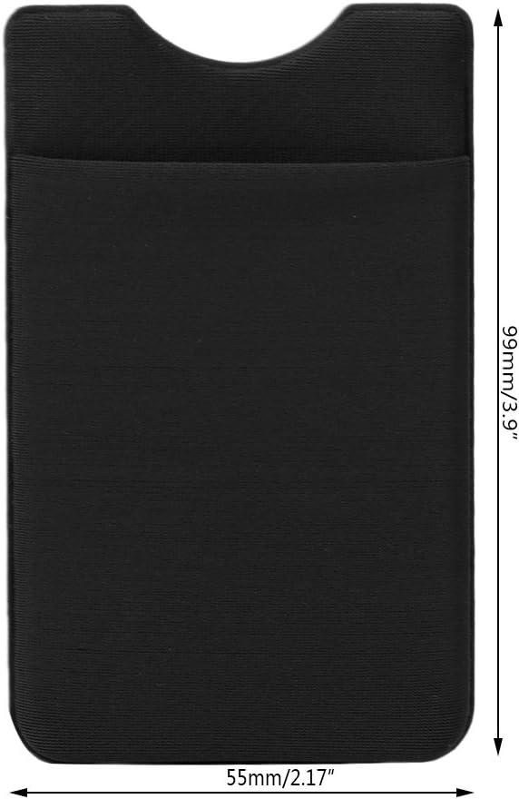 Porte-cl/és pour Tous Les Smartphones Coque arri/ère pour Cartes de cr/édit Blanc Carte didentit/é Sqiuxia Support pour Carte de t/él/éphone Portable avec adh/ésif fermement sur la Manche