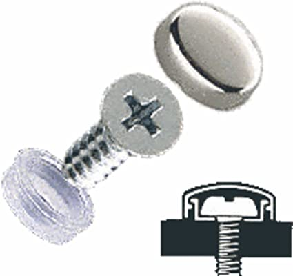CRL Chrome Flat Large Snap Cap Screw Covers - Package of 100
