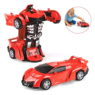 Subao Transform Toys for 4 5 6 7 8 Year Old Boys Transform Car Robot Toy Cars for Kids : Clothing