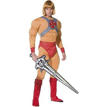traje de superhéroe traje músculo He Man: Amazon.es ...