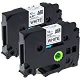 2 Pack Compatible TZe Tapes TZe-231 / 12mm x 8m / Black on White / Label Tape Cassette for Brother Label Maker PT-1000 PT-1010R PT-2030VP PT-2430PC PT-D600VP PT-E100 PT-H110 PT-D210 PT-9700PC PT-D400 PT-D400AD PT-D400VP PT-P700 PT-9800PCN PT-H300 PT-1290 PT-P750W PT-1230PC