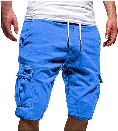 Pantalones Cortos para Hombre Verano Cargo Shorts Chinos Bermuda Deporte Short Pantalón Sweatpant Gym Leisure Elástico Regular Pantalones Algodón ZOELOVE Vendaje Multi-Bolsillo: Amazon.es: Ropa y accesorios