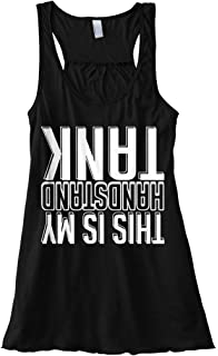 Threadrock Women/'s This Is My Handstand Shirt Racerback Tank Top Funny Fitness