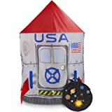 Space Adventure Roarin' Rocket Play Tent with Milky Way Storage Bag – Indoor/Outdoor Children's Astronaut Spaceship Playhouse, Great for Ball Pit Balls and Pretend Play by Imagination Generation