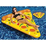 """72"""" Water Sports Inflatable Pizza Slice Swimming Pool Float by Swim Central"""