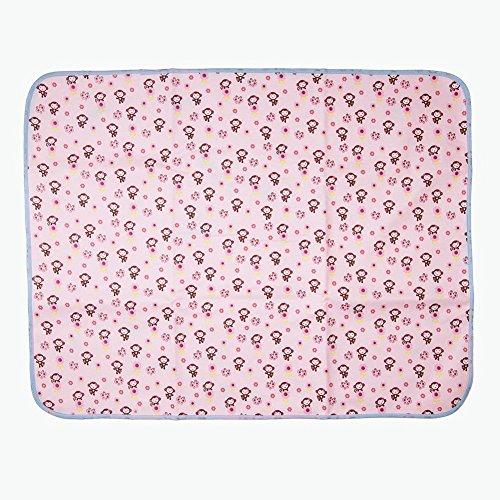 Cotton Bamboo Fiber Breathable Waterproof Underpads Mattress Pad Sheet Protector Reusable, Soft Cotton Blend (Monkey-blue, 27