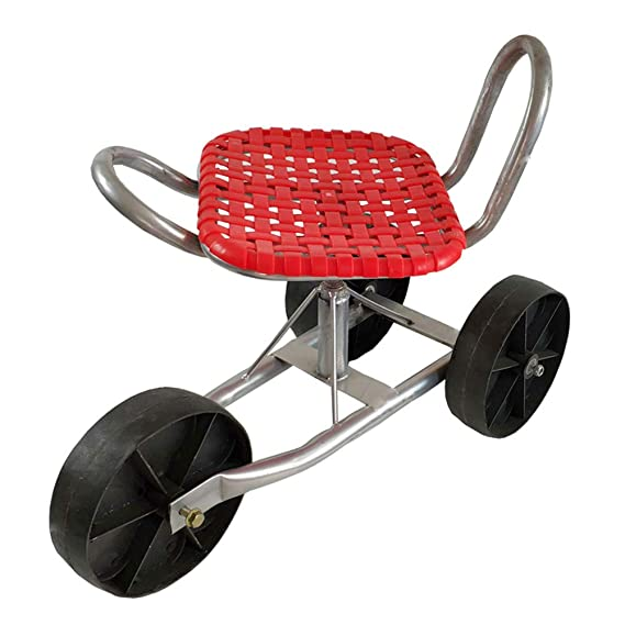 Patinete de jardín con asiento giratorio, 3 ruedas, asiento ...