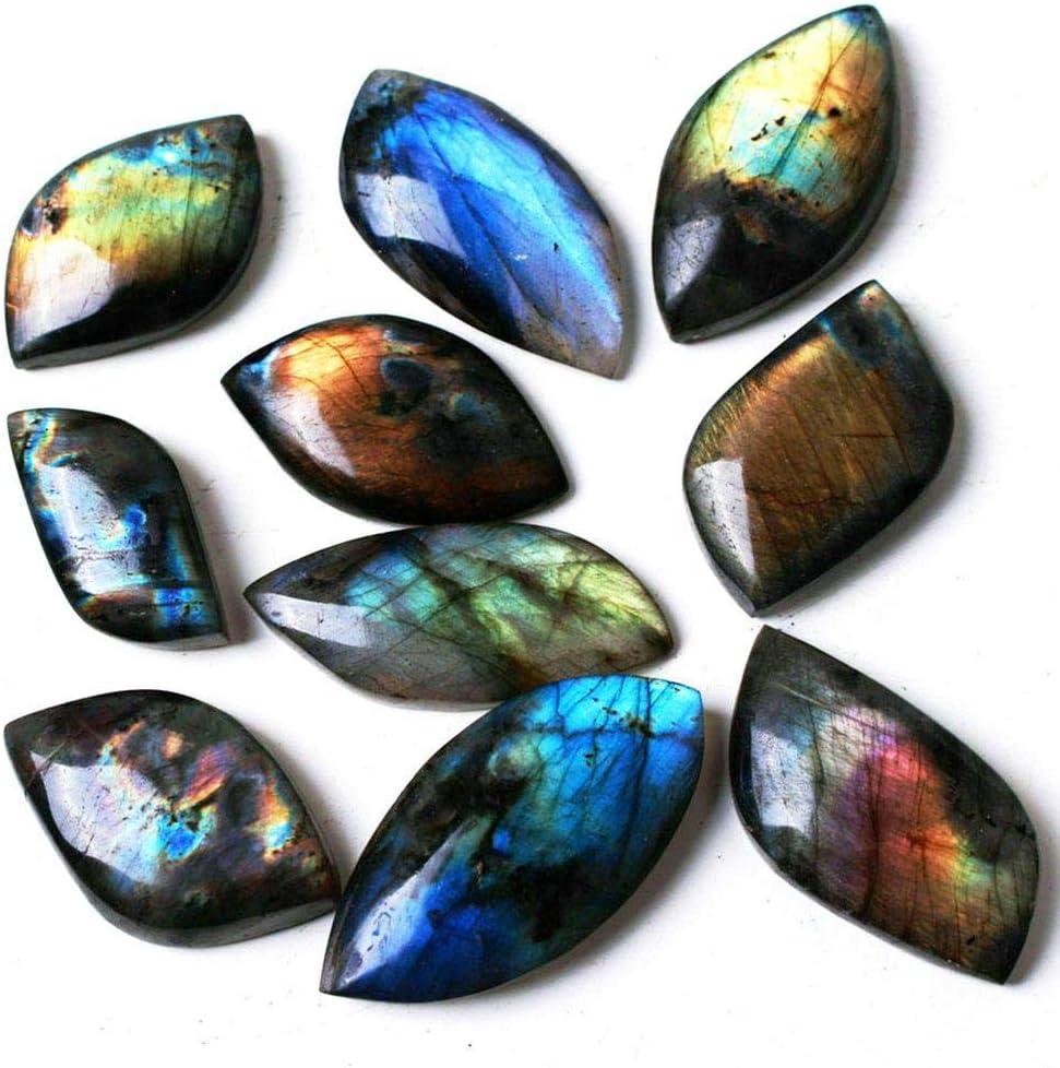 JUNHEA3 Natural Crystal Stone Moonstone Labradorite Rough Rock