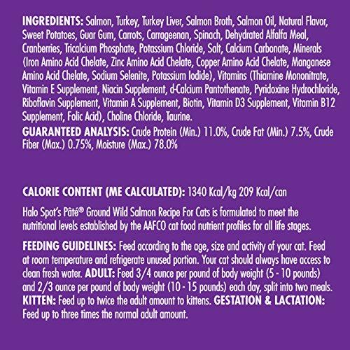 halo spot s pate holistic grain free wet cat food wild salmon 5 5