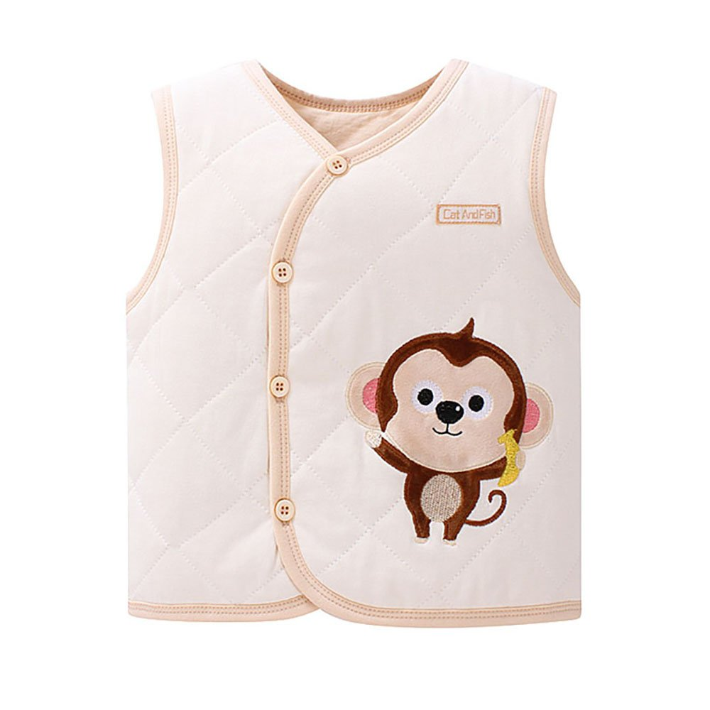 ThreeH Baby Vest Winter Warm Jacket Sleeveless Colored Cotton Waistcoat BR12 H-BR12