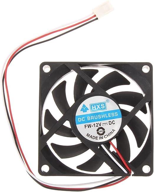 Portátil de ordenador CPU Cooler 12 V 7 cm 70 mm PC ventilador de ...