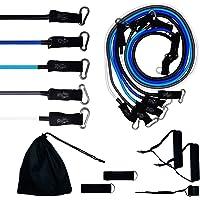 Kit Tubing Elástico 11 Itens - Treinamento Funcional Pilates Azul