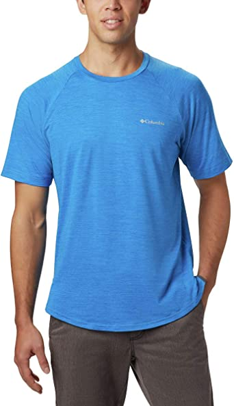 UPF 50 Protection Columbia Mens Tech Trail II Short Sleeve Crew Shirt Moisture Wicking Fabric