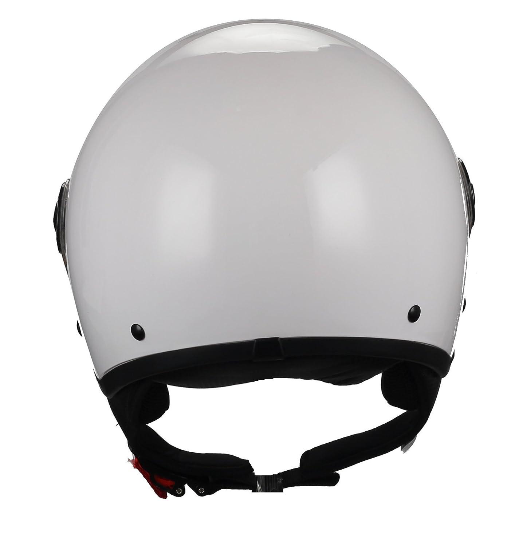 55//56/cm Wei/ß BHR 45569/Helm Demi-Jet S