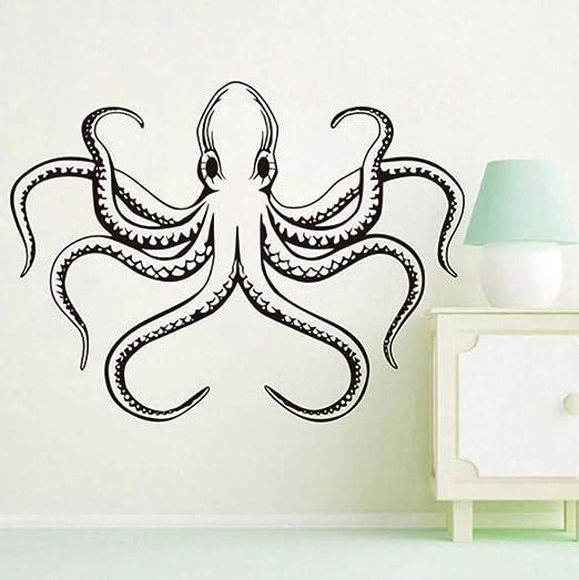 Océano mar animal pulpo tentáculos vinilo tatuajes de pared a ...